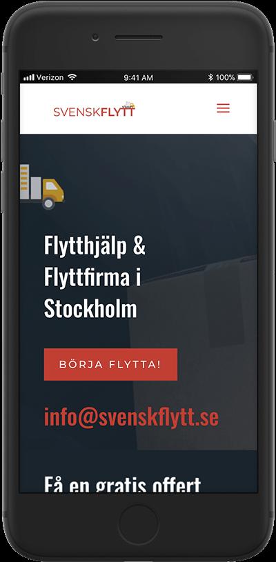 svenskflytt responsiv design av webbyrå