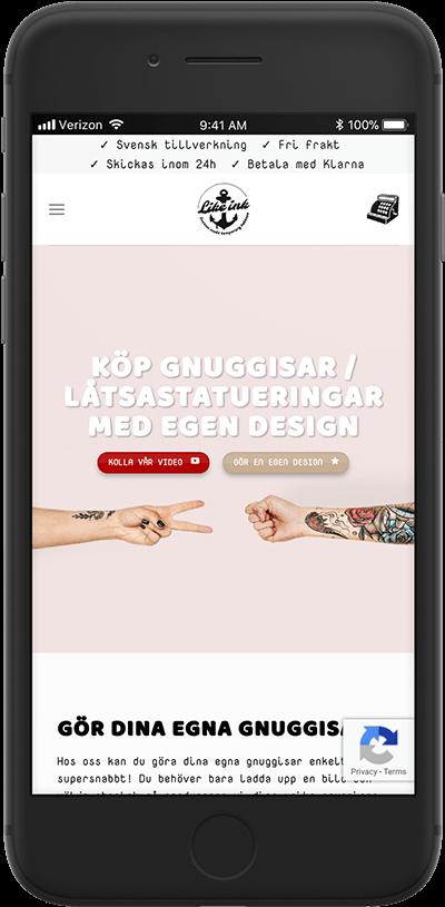 likeink responsiv design av webbyrå