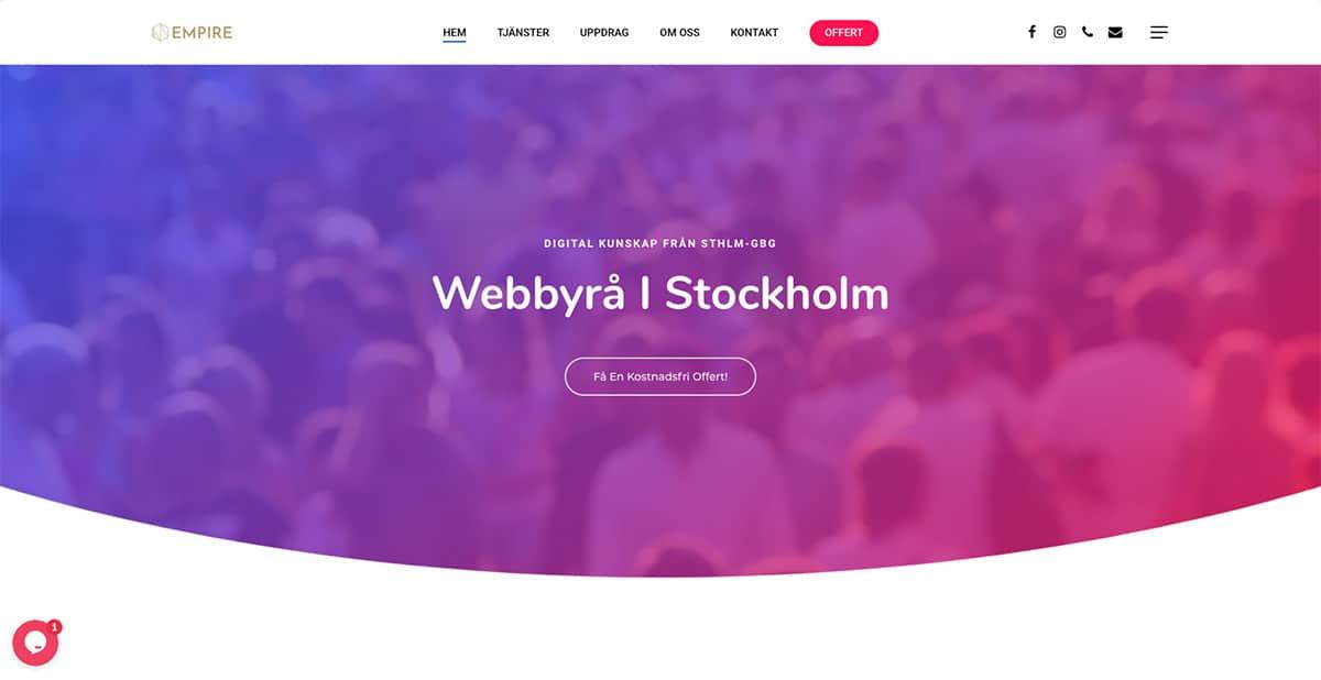 webbyrå stockholm