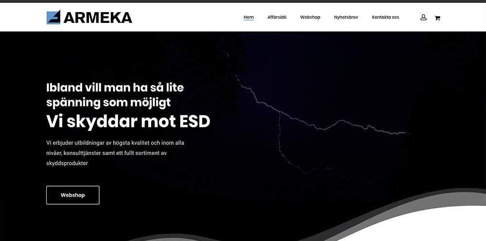 webbplats med ehandel av webbyrå