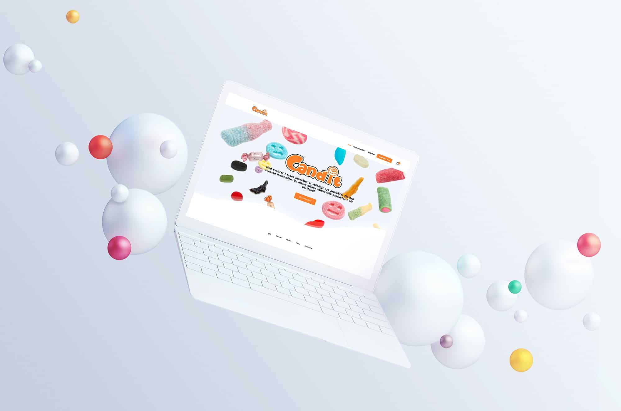 hemsida för godisföretag